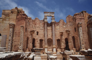 『レプティス・マグナの考古遺跡』(大リビア・アラブ社会主義人民ジャマーヒリーヤ国)