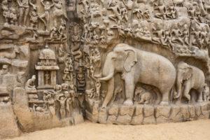 『マハーバリプラムの建築と彫刻群』(インド)
