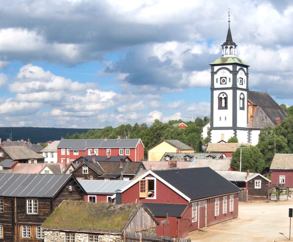 レーロースの鉱山都市と周辺(ノルウェー王国)