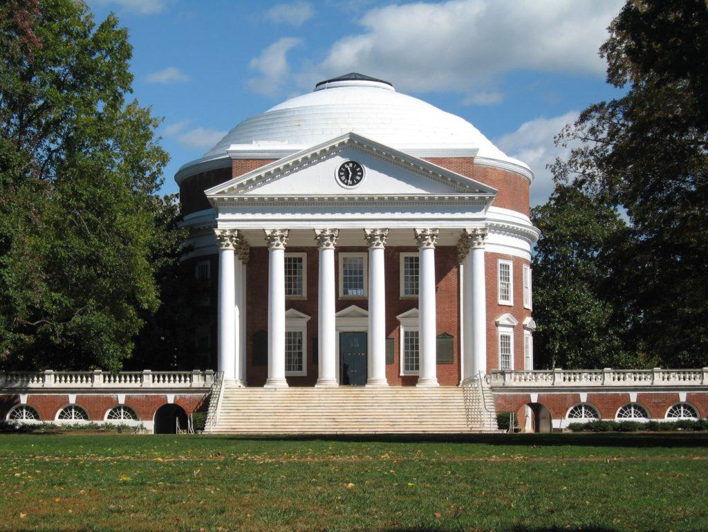シャーロットビルのモンティチェロとヴァージニア大学(アメリカ合衆国)