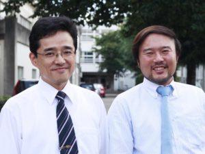 千葉商科大学付属高等学校 地歴科主任 佐藤学氏(右) 教論 梅津直隆氏(左)